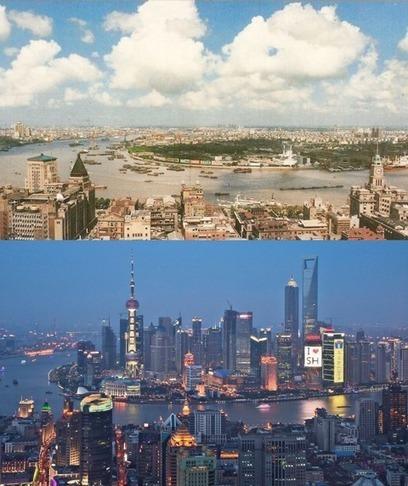 AMAZING PHOTO: Shanghai Skyline – Past vs. Present   U China Travel   Ideas for 1251EDN   Scoop.it