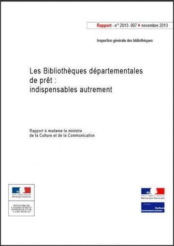 Rapport IGB : Les bibliothèques départementales de prêt, indispensables autrement | Enssib | Preparation concours assistant | Scoop.it
