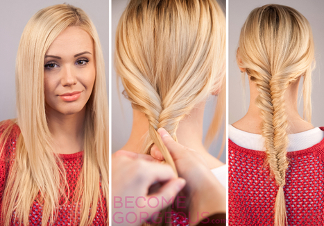 Fishtail Braid Tutorial Step by Step with Video   kapsel trends   Scoop.it