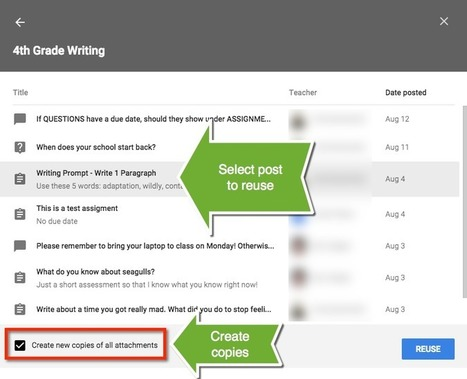 Google Classroom: Reuse an Assignment | Edulateral | Scoop.it