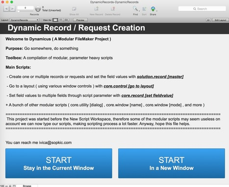 Dynamic Record Creation and Finds with FileMaker | FileMaker Love | Scoop.it