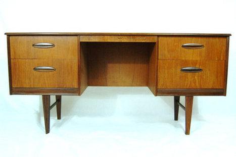 Sleek Modern MID CENTURY Desk | QuiteQuainte | Scoop.it