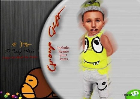 Beanie, Tank & Pants June 2016 Group Gift by Kidorable Clothing | Teleport Hub - Second Life Freebies | Second Life Freebies | Scoop.it