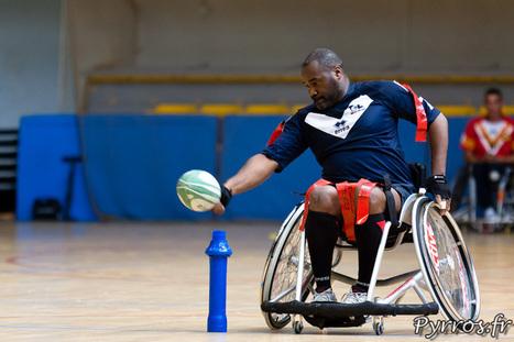 Rugby à XIII fauteuil en démonstration au petit palais des sports   Liens photo pour les yeux   Scoop.it