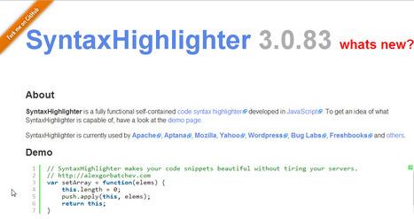 SyntaxHighlighter | Beyond Java | Scoop.it