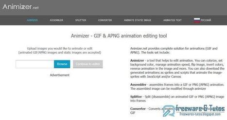 Animizer : un outil en ligne pour créer/éditer des fichiers GIF | Time to Learn | Scoop.it