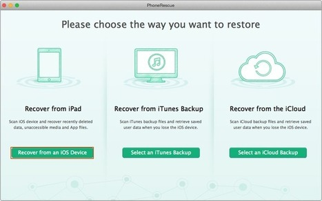 Retrieve Deleted Text Messages on iPad Air/mini – iMobie Inc.   iOS Data Recovery   Scoop.it