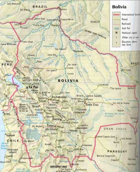 Map and Area Geography of Bolivia | Geography and world cultures | Scoop.it