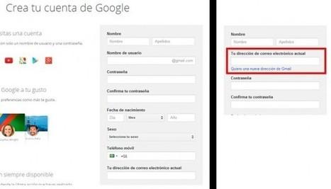 Para crear una cuenta de Google sin necesidad de tener Gmail | Innovación docente universidad | Scoop.it