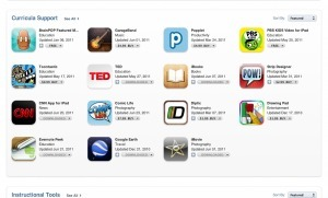 "Apple opens a ""Teachers"" section on iTunes Appstore 