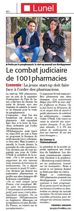 [Midi Libre] Le combat judiciaire de 1001pharmacies   La revue de presse 1001pharma   Scoop.it