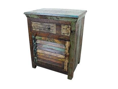 Hand Painted Rustic Wood Night Stand | Home Decor | Scoop.it