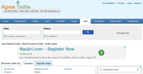 Job Search India - Careers India - India Jobs - best  jobs.apnaindia.com | USA Free Classifieds | Scoop.it
