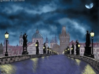 iPad Art: The Moon Over Prague | Technology and the school library | Scoop.it