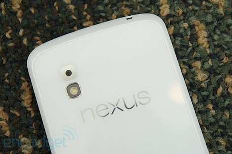 LG Nexus 4 shows up in white at Google I/O (hands-on) | Tech Investing News | Scoop.it
