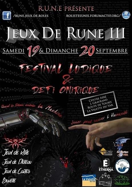 CONVENTION ROLISTE et FESTIVAL LUDIQUE JEUX DE RUNE 2015 , c'est parti | FRED PIXEL FAIT DU JEU  DE ROLE | Scoop.it