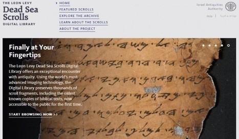 Israel et Google mettent en ligne 5 000 images des manuscrits de la mer morte | Club Innovation et Culture France | Kiosque du monde : Asie | Scoop.it
