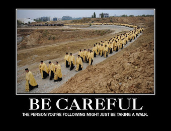 Pithless Thoughts: Following Too Closely | The Amused Catholic: an Ezine | Scoop.it