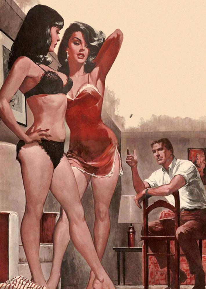 Vintage Pulp Lingerie Illustration   Sex History   Scoop.it