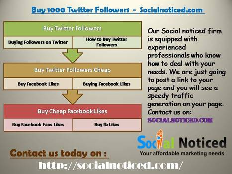 Buy 1000 Twitter Followers - Socialnoticed.co | Buying facebook likes | Scoop.it