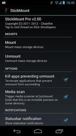 root StickMount Pro v2.10 (paid) apk download | Stickmount | Scoop.it