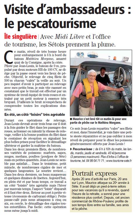 Une authentique matinée de pêche | Sète Tourisme : les ambassadeurs-reporters sur le terrain | Scoop.it
