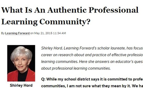 What Is An Authentic Professional Learning Community? | Professional Learning Promotion & Engagement | Scoop.it
