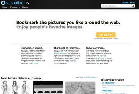 social bookmarking for pictures on VisualizeUs | Teaching in the XXI Century | Scoop.it