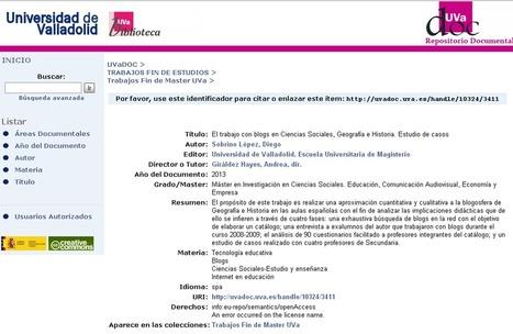 El trabajo con blogs en Ciencias Sociales, Geografía e Historia. Estudio de casos | Enseñar Geografía e Historia en Secundaria | Scoop.it