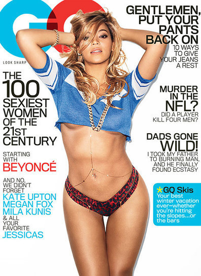 "Beyonce on GQ ""Sexiest Women of the 21st Century"" Cover ... 