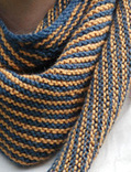 Stripie Scarf in Soft Linen -Knit with Crochet edging- | Needle and Hook Patterns-all free | Scoop.it