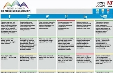The 2013 CMO's Guide To The Social Media Landscape | Pharma Data and Multichannel Marketing | Scoop.it