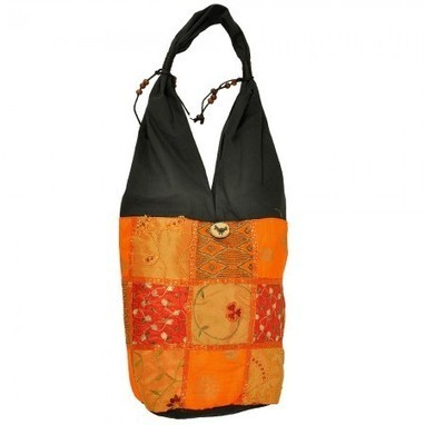 Yellow Black Hand Embroidery Jaipuri Shoulder Bag | Gifting Zone | Scoop.it