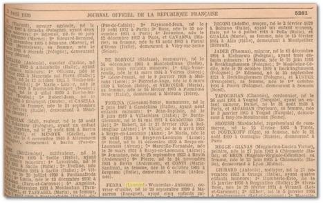 Connaître le décret de naturalisation de vos ancêtres avec Gallica | Généal'italie | Scoop.it