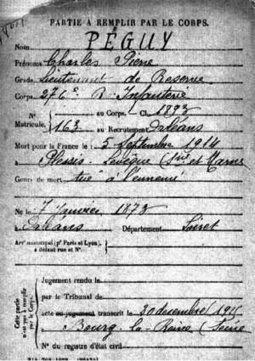 Charles Péguy 1873 - 5 septembre 1914 Villeroy | Chemins de Mémoire | Nos Racines | Scoop.it