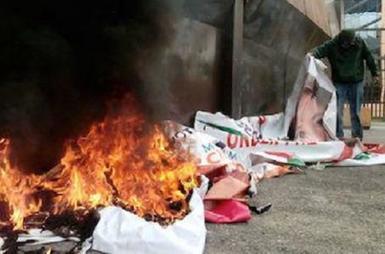 Normalistas toman caseta y queman propaganda electoral   El Financiero   Ciudadanía   Scoop.it