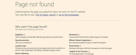 Only Smart People Will Understand the FT's Amazing New 404 Page | News we like | Scoop.it