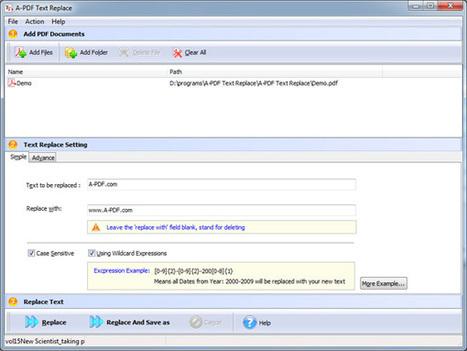 PDF Text Batch Modifier - Batch modifying or deleting the text in PDF [A-PDF.com]   PDF Text Batch Modifier - Batch modifying or deleting the text in PDF files   Scoop.it