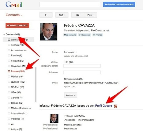 Les profils de Google+ intégrés à l'application Contacts de Gmail | Social Media Curation par Mon-Habitat-Web.com | Scoop.it