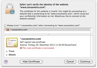 NSURLConnection with Self-Signed Certificates | Information Security | Scoop.it