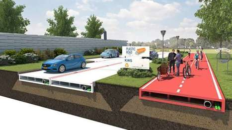 "Plastic road surface might be streets ahead of asphalt (""another clever plastic recycling idea"") 