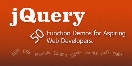 50 jQuery Function Demos for Aspiring Web Developers - Smashing Coding | Learning HTML, CSS, Design Favs | Scoop.it