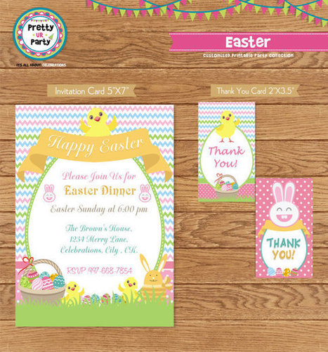 Easter Invitations and Favor Tags   Personalised Return Gift   Scoop.it