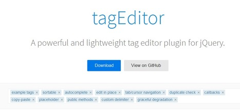 tagEditor : jQuery powerful Tag Editor plugin | Free Resources for Designer | Scoop.it