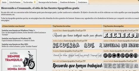 Creamundo, banco de tipografías gratuitas para descargar | Herramientas 2.0 | Scoop.it