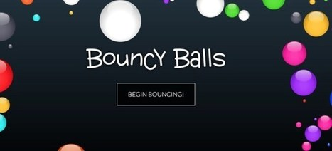 Bouncy Balls. Visualiser le niveau sonore de sa classe | Infocom | Scoop.it
