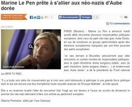 Reuters dérape sur Marine Le Pen et Aube Dorée | DocPresseESJ | Scoop.it