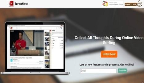 TurboNote, para tomar y compartir notas mientras ves vídeos - Nerdilandia | Educacion, ecologia y TIC | Scoop.it