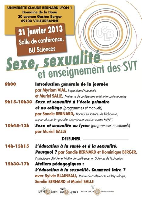 IUFM de Lyon - Journée d'étude : Sexe, sexualité et enseignement des SVT | égalité femmes-hommes | Scoop.it