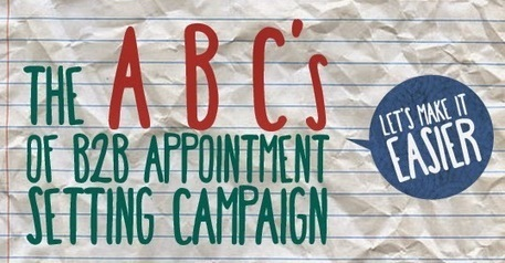 The Appointment Setting: The ABCs of B2B Appointment Setting Campaign: Let's Make it Easier | Telemarketing and appointment settings | Scoop.it
